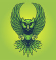 weed owl leaf cannabis for your work logo mascot vector image vector image