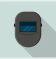 welder black protect mask icon flat style vector image vector image