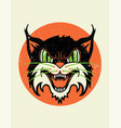 wild cat retro old school vector image