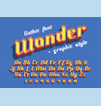 wonder modern font with graphic style vector image