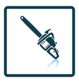 Icon of chain saw vector image