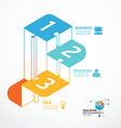 infographic Template step jigsaw banner concept vector image
