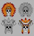 Native America Skull Mascot vector image
