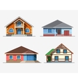 Houses 3 color vector image