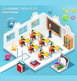 pupils study in the classroom vector image