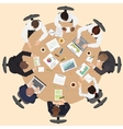 Corporate Business management teamwork meeting and vector image