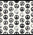 Abstract background with peace signs the sign of