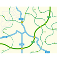 abstract road map vector image vector image