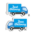 adhesives for truck fast and free delivery vector image