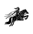 ancient warrior on horseback vector image vector image