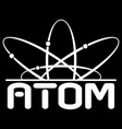 atom with electrons schematic representation vector image vector image