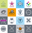 big set of logos technology vector image vector image