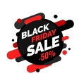 Black Friday sale banner Black and red colors vector image vector image