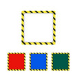 border yellow and black color construction vector image vector image