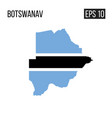 botswana map border with flag eps10 vector image vector image