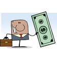 Businessman cartoon vector image vector image
