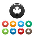 canada maple leaf icons set simple vector image vector image