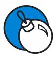 christmas circle blue icon new year vector image vector image