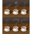 Coffee Cup Tea with Smoke Ideas Concept vector image