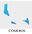 comeros map in africa continent design vector image
