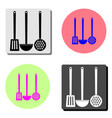 cooking scoop kitchen flat icon vector image vector image