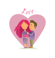 Couple in love 04 vector image vector image