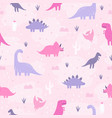 cute pastel dinosaurs vector image
