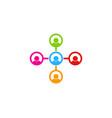 diagram people logo icon design vector image