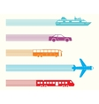 different kinds transport vector image