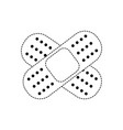 dotted shape aid band adhesive in shape of cross vector image vector image