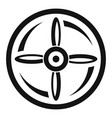 drone propeller icon simple style vector image vector image