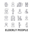 elderly people care elderly couple old people vector image vector image