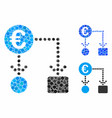 euro flow chart composition icon round dots vector image vector image