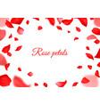 falling red rose petals realistic flying petal vector image