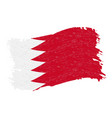 flag of bahrain grunge abstract brush stroke vector image vector image