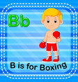 flashcard letter b is for boxing vector image vector image