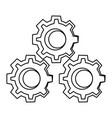 gears machinery pieces cartoon vector image vector image