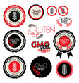gluten free label collection vector image