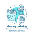grocery ordering app concept icon customer vector image vector image