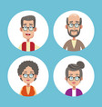 group grandparents family icons vector image vector image