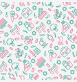 gut flora seamless pattern with thin line icons vector image vector image