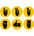 hand gestures icons vector image vector image