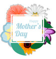happy mothers background with flowers vector image vector image