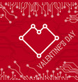 happy valentines day abstract technology vector image vector image