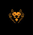 head lion icon line vector image vector image