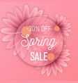 hello spring text floral background vector image vector image