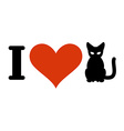 I love cats Heart and pets Logo for at owner and vector image vector image