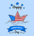 independence day cartoon vector image vector image