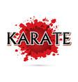 karate font design vector image