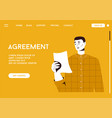 landing page agreement concept vector image